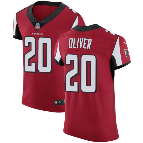 Nike Falcons #20 Isaiah Oliver Red Team Color Men's Stitched NFL Vapor Untouchable Elite Jersey