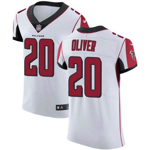Nike Falcons #20 Isaiah Oliver White Men's Stitched NFL Vapor Untouchable Elite Jersey