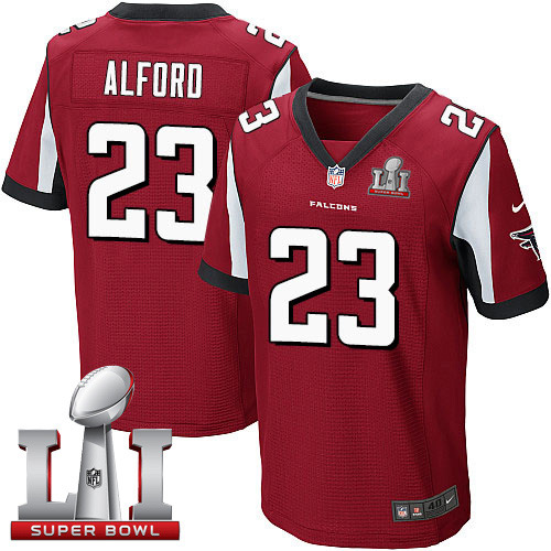 Nike Falcons #23 Robert Alford Red Team Color Super Bowl LI 51 Elite Jersey