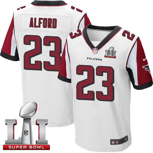 Nike Falcons #23 Robert Alford White Super Bowl LI 51 Elite jerseys