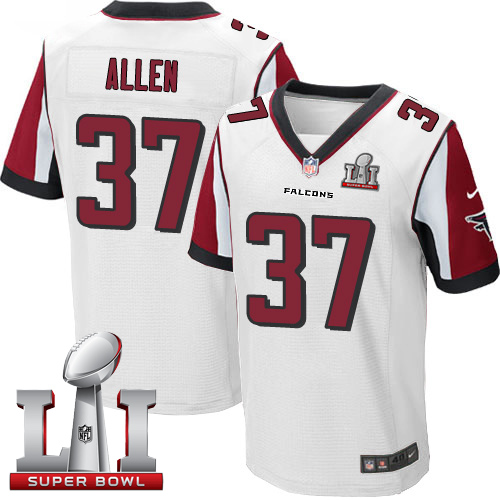 Nike Falcons #37 Ricardo Allen White Super Bowl LI 51 Elite Jersey