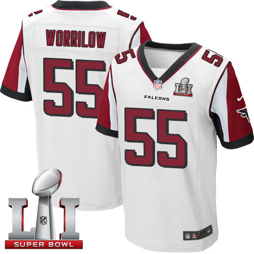 Nike Falcons #55 Paul Worrilow White Super Bowl LI 51 Elite Jersey