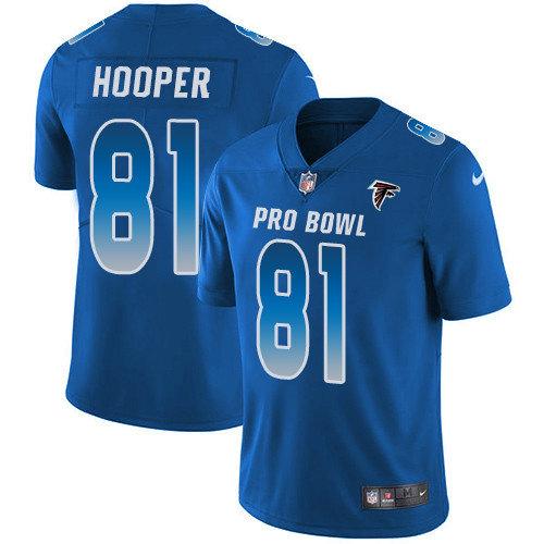 Nike Falcons #81 Austin Hooper Royal Men's Stitched NFL Limited NFC 2019 Pro Bowl Jersey