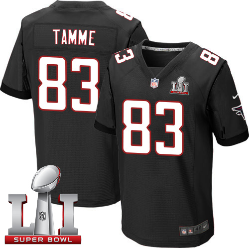 Nike Falcons #83 Jacob Tamme Black Alternate Super Bowl LI 51 Elite Jersey