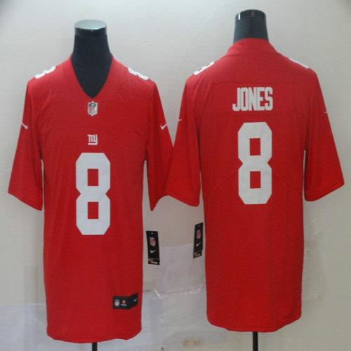 Nike Giants 8 Daniel Jones Red Vapor Untouchable Limited Jersey