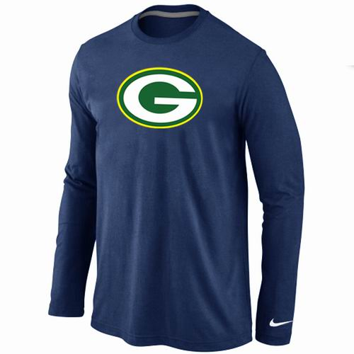 Nike Green Bay Packers Logo Long Sleeve T-Shirt D.Blue