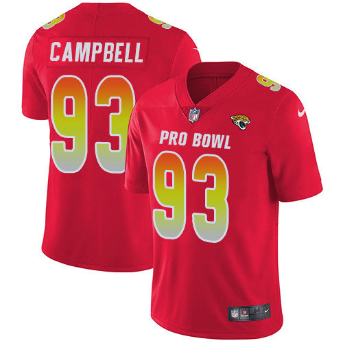 Nike Jaguars #93 Calais Campbell Red Men's Stitched NFL Limited AFC 2019 Pro Bowl Jersey
