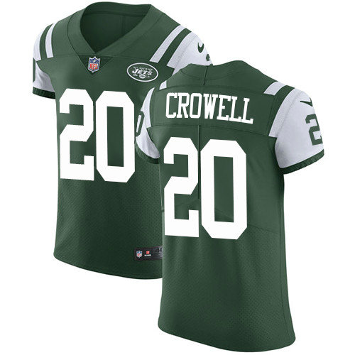 Nike Jets #20 Isaiah Crowell Green Team Color Men's Stitched NFL Vapor Untouchable Elite Jersey