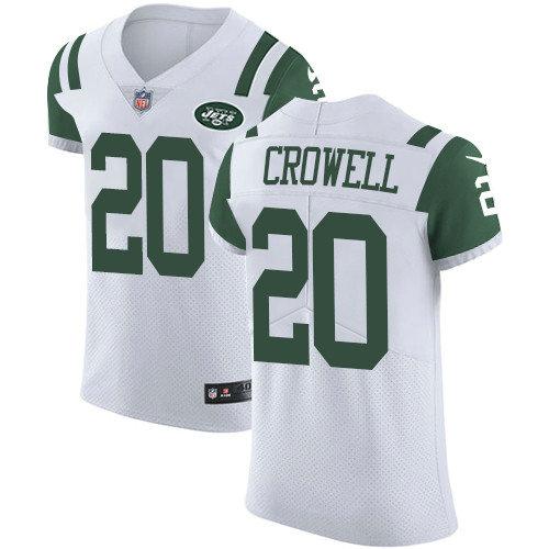 Nike Jets #20 Isaiah Crowell White Men's Stitched NFL Vapor Untouchable Elite Jersey