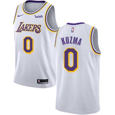 Nike Lakers #0 Kyle Kuzma White NBA Swingman Association Edition Jersey