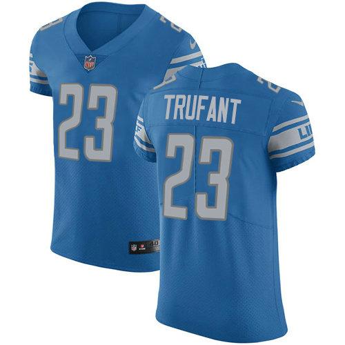 Nike Lions #23 Desmond Trufant Blue Team Color Men's Stitched NFL Vapor Untouchable Elite Jersey