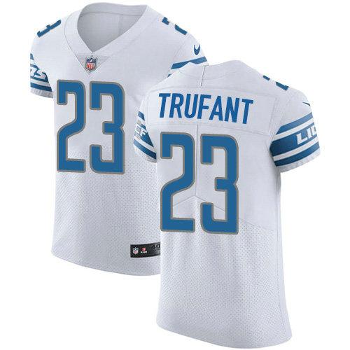 Nike Lions #23 Desmond Trufant White Men's Stitched NFL New Elite Jersey