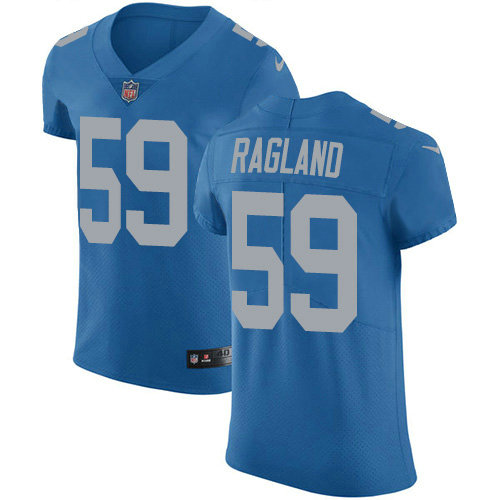 Nike Lions #59 Reggie Ragland Blue Throwback Men's Stitched NFL Vapor Untouchable Elite Jersey