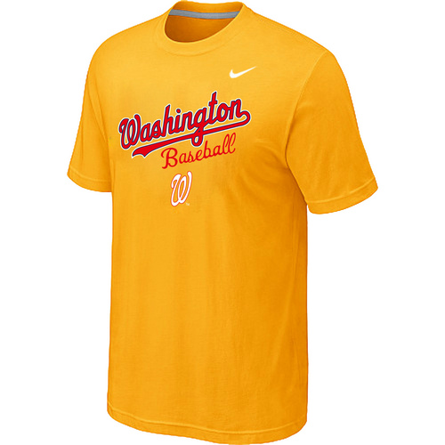 Nike MLB Washington Nationals  2014 Home Practice T-Shirt - Yellow