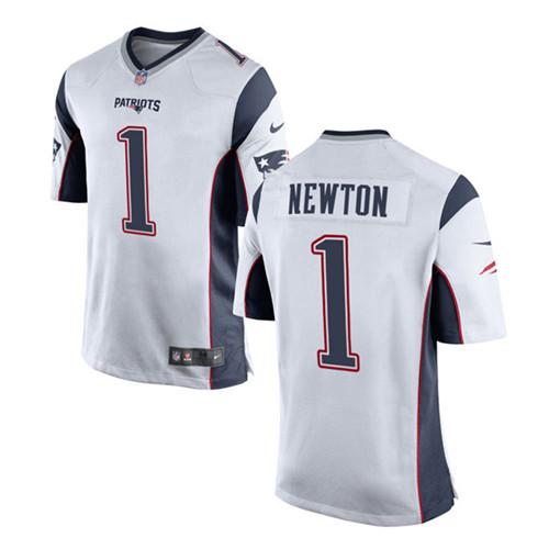 Nike Men's New England Patriots #1 Cam Newton Vapor Limited White Jersey