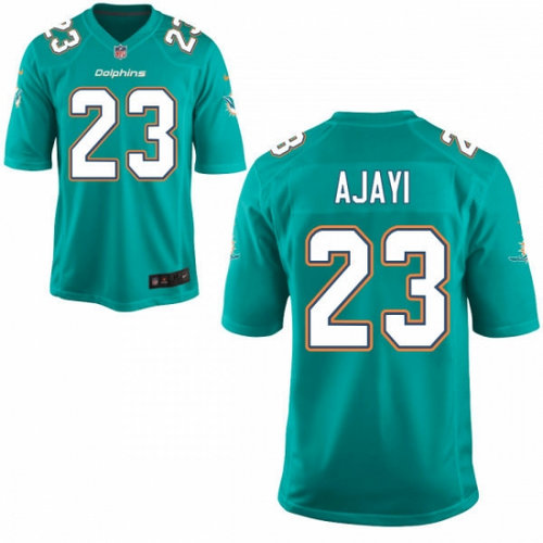 Nike Miami Dolphins 23 Jay Ajayi Aqua Green Team Color NFL Game Jersey