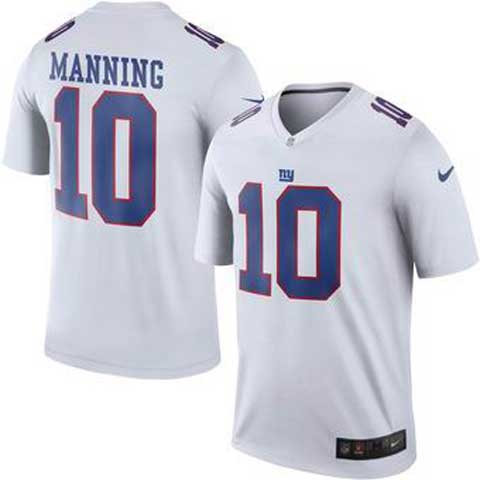 Nike New York Giants 10 Eli Manning White Color Rush Limited Jerseys