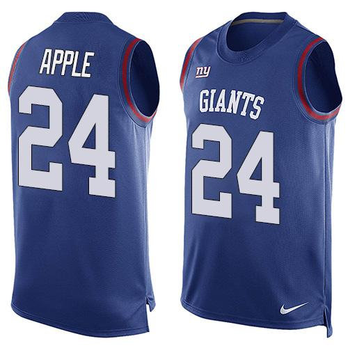 Nike New York Giants 24 Eli Apple Royal Blue Team Color NFL Limited Tank Top Jersey