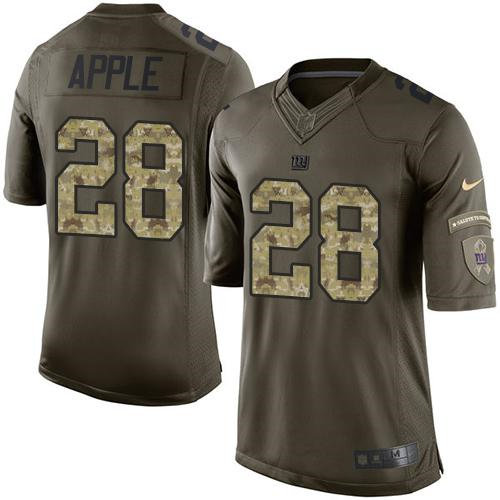 Nike New York Giants 28 Eli Apple Green NFL Limited Salute to Service Jersey