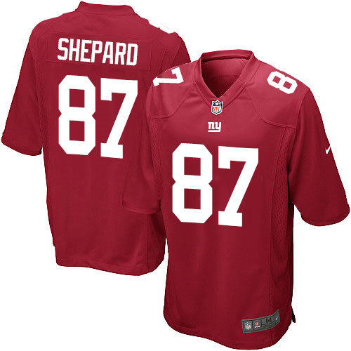 Nike New York Giants 87 Sterling Shepard Game Red Alternate NFL Jersey