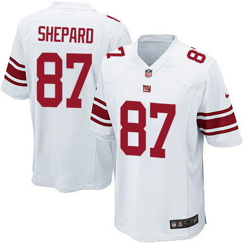 Nike New York Giants 87 Sterling Shepard Game White NFL Jersey