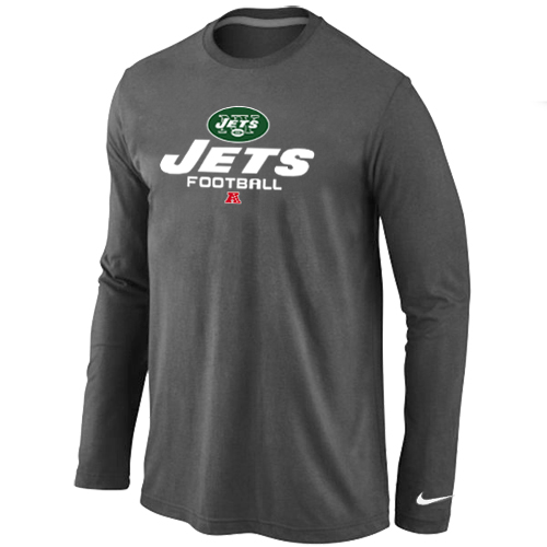 Nike New York Jets Critical Victory Long Sleeve T-Shirt D.Grey