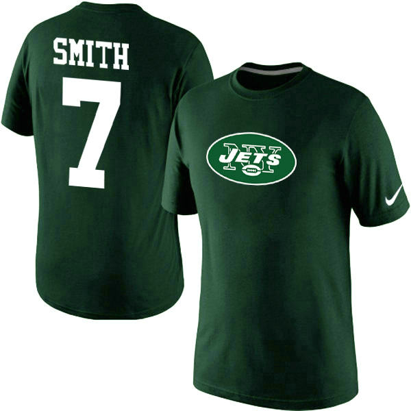 Nike New York Jets Geno Smith Name & Number T-Shirt Green