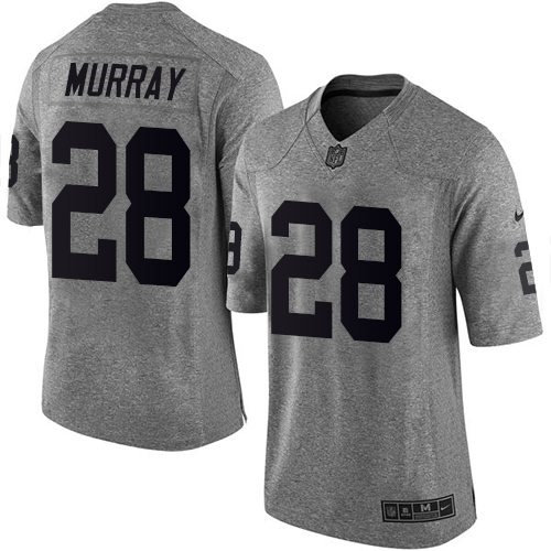 Nike Oakland Raiders 28 Latavius Murray Gray NFL Limited Gridiron Gray Jersey