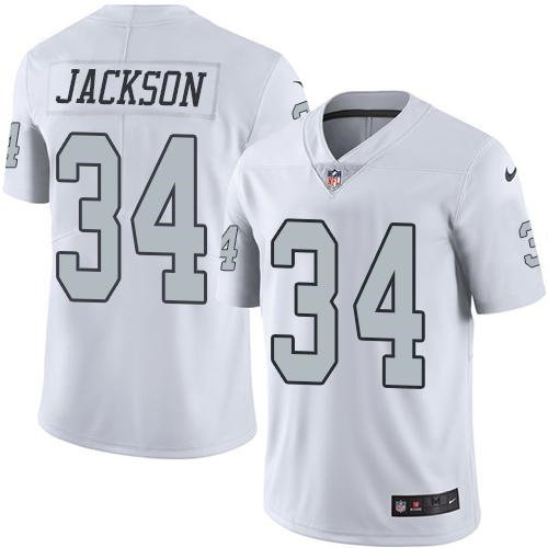 Nike Oakland Raiders 34 Bo Jackson White NFL Limited Color Rush Jersey