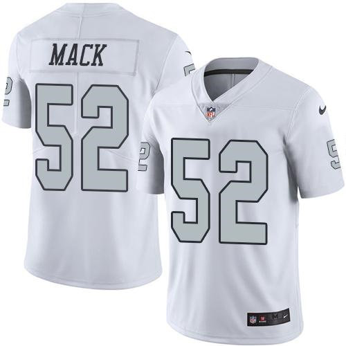Nike Oakland Raiders 52 Khalil Mack White NFL Limited Color Rush Jersey