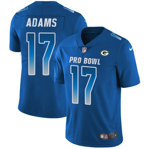Nike Packers #17 Davante Adams Royal Youth Stitched NFL Limited NFC 2019 Pro Bowl Jersey
