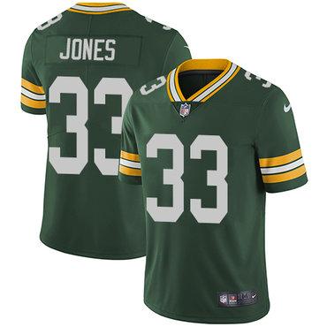 Nike Packers #33 Aaron Jones Green Team Color Men's Stitched NFL Vapor Untouchable Limited Jersey