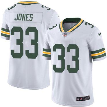 Nike Packers #33 Aaron Jones White Men's Stitched NFL Vapor Untouchable Limited Jersey