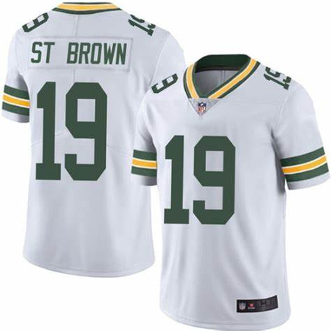 Nike Packers 19 Equanimeous St. Brown White Vapor Untouchable Limited Jersey