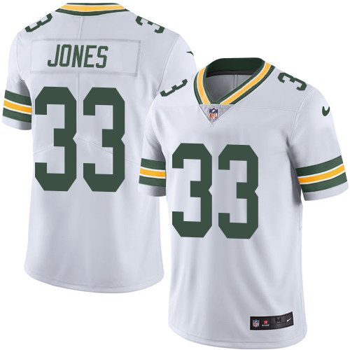 Nike Packers 33 Aaron Jones White Vapor Untouchable Limited Jersey