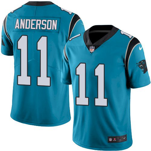 Nike Panthers #11 Robby Anderson Blue Alternate Men's Stitched NFL Vapor Untouchable Limited Jersey