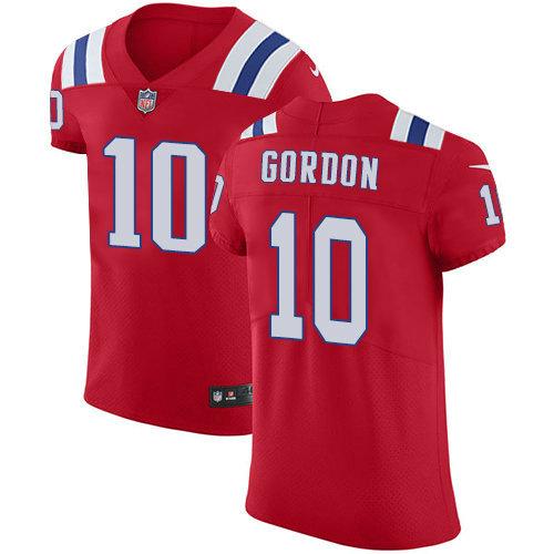 Nike Patriots #10 Josh Gordon Red Alternate Men's Stitched NFL Vapor Untouchable Elite Jersey