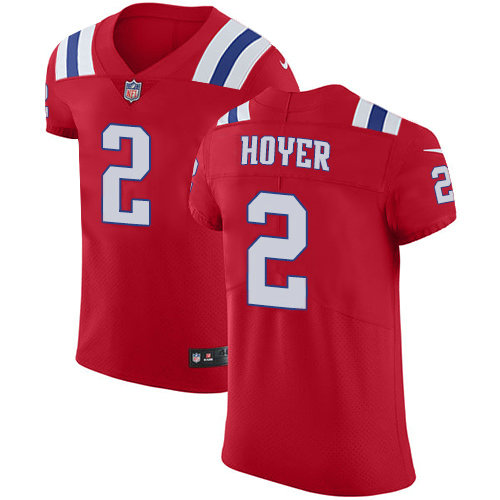 Nike Patriots #2 Brian Hoyer Red Alternate Men's Stitched NFL New Elite Jersey