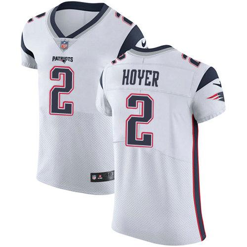 Nike Patriots #2 Brian Hoyer White Men's Stitched NFL New Elite Jersey
