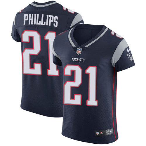 Nike Patriots #21 Adrian Phillips Navy Blue Team Color Men's Stitched NFL Vapor Untouchable Elite Jersey