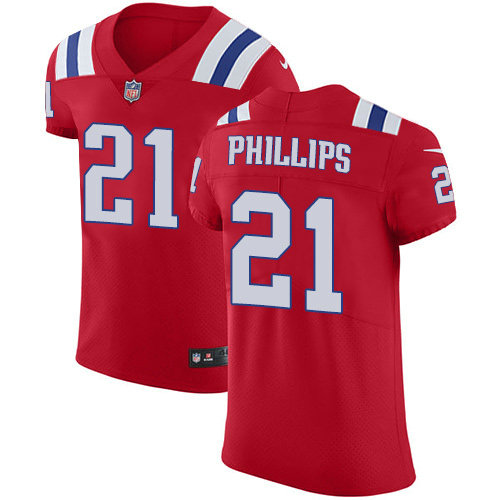 Nike Patriots #21 Adrian Phillips Red Alternate Men's Stitched NFL New Elite Jersey