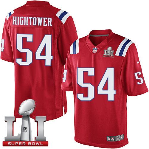 Nike Patriots #54 Dont'a Hightower Red Alternate Super Bowl LI 51 Limited Jersey