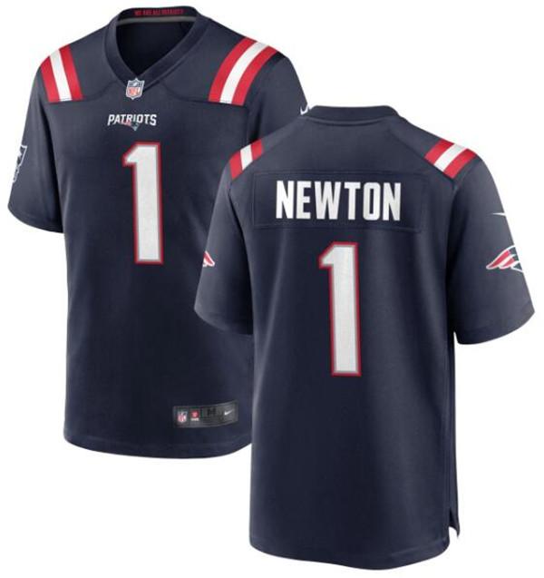 Nike Patriots 1 Cam Newton Navy Vapor Untouchable Limited Jersey