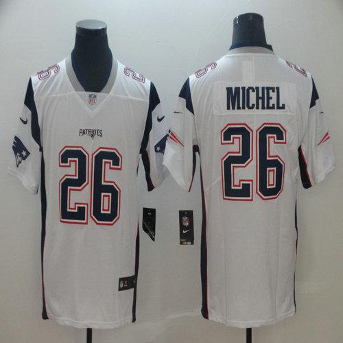 Nike Patriots 26 Sony Michel White Vapor Untouchable Limited Jersey