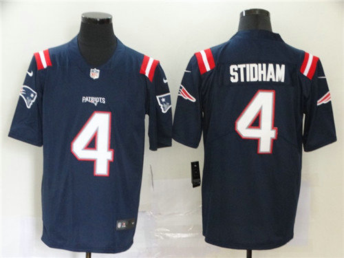 Nike Patriots 4 Jarrett Stidham Navy 2020 New Vapor Untouchable Limited Jersey