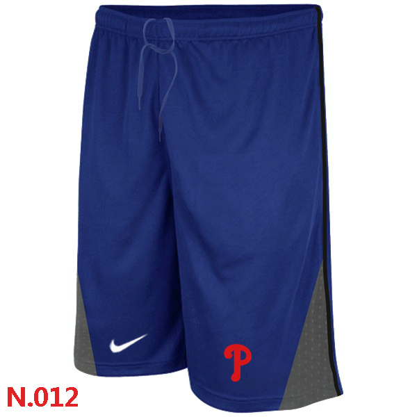 Nike Philadelphia Phillies Performance Training Shorts Blue 2