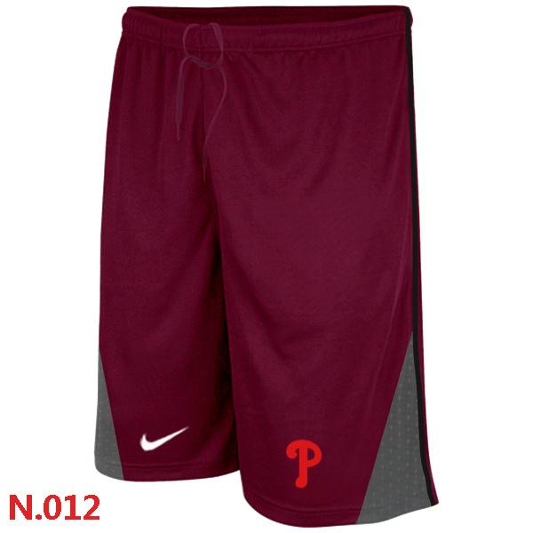 Nike Philadelphia Phillies Performance Training Shorts Red 2