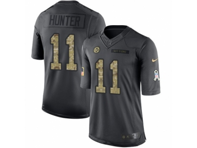 Nike Pittsburgh Steelers #11 Justin Hunter Limited Black 2016 Salute to Service Jersey