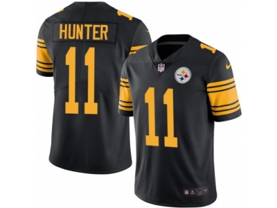 Nike Pittsburgh Steelers #11 Justin Hunter Limited Black Rush Jersey