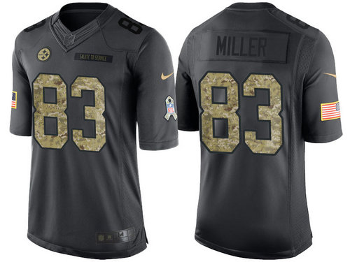 Nike Pittsburgh Steelers 83 Heath Miller Black NFL Salute to Service Limited Jerseys
